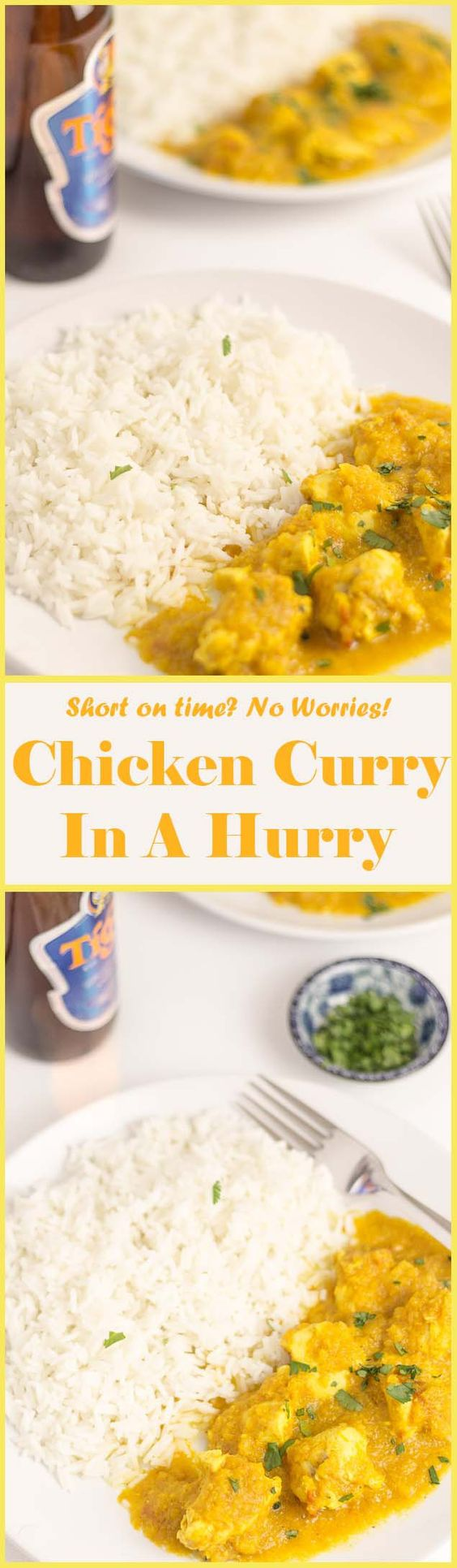 This chicken curry in a hurry is packed full of taste, plenty of ...