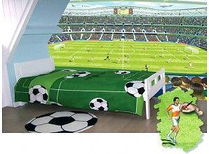 Fotobehang of wandstickers. jongenskamer behang voetbalteam Voetbal stadion kinderkamer-,