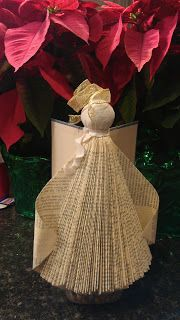 Child friendly project. Re-purpose an old book into an angel for a Christmas centerpiece:Doodling In My Mind: