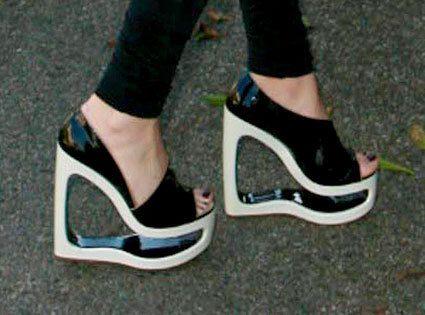 Wackiest shoes: Black and White Wedge Heels | Beats, Heeled ...
