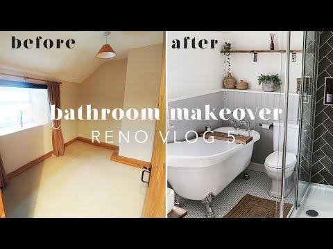 Bathroom Renovation Before After Reno Vlog 5 Youtube Bathroom Renovation Bathroom Makeover Renovations