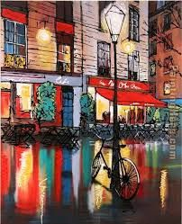 cafe paintings - Google Search
