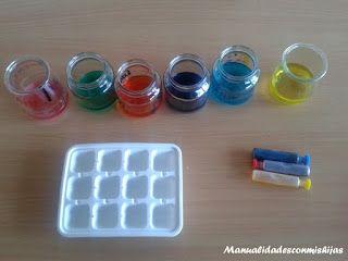¿Jugamos con los colores básicos y hacemos hielos de colores?