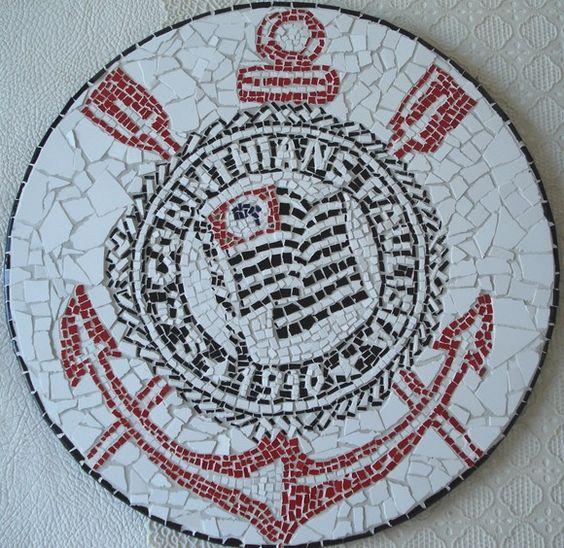 CORINTHIANOS, APROVEITEM!!  Escudo do Corinthians com 25cm de diâmetro R$85,00
