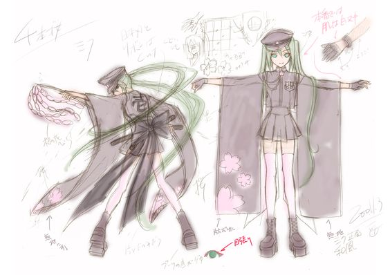 "Hatsune Miku's ""Senbonzakura"" Concept Art | 「お祝い&千本桜・設定書」/「一斗まる」の漫画 [pixiv] [04]"