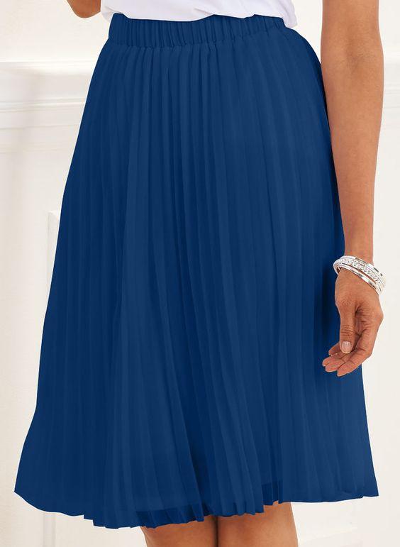 Pleated Georgette Skirt - AmeriMark - Online Catalog Shopping for Womens Apparel…