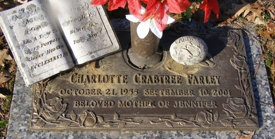Charlotte Crabtree Farley (1955 - 2001) - Find A Grave Photos.  1st cousin....daughter of Richard Crabtree and Glenna H. Crabtree.