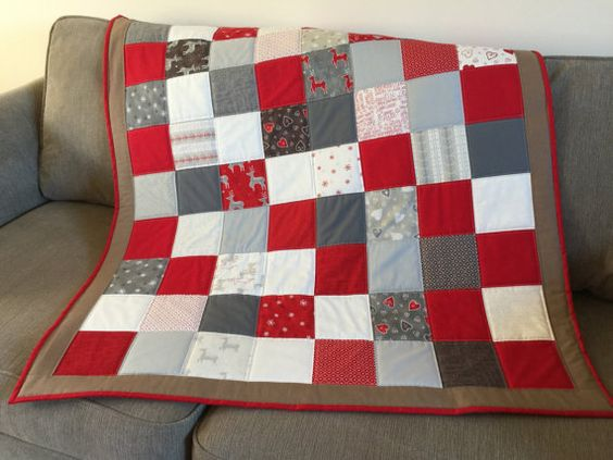 Christmas+Lap+Quilt+Scandi+Mini+Quilt+Patchwork+by+SewnByVicki