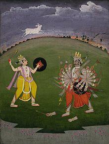 Parashurama and the fight with the thousand-armed king Kartavirya