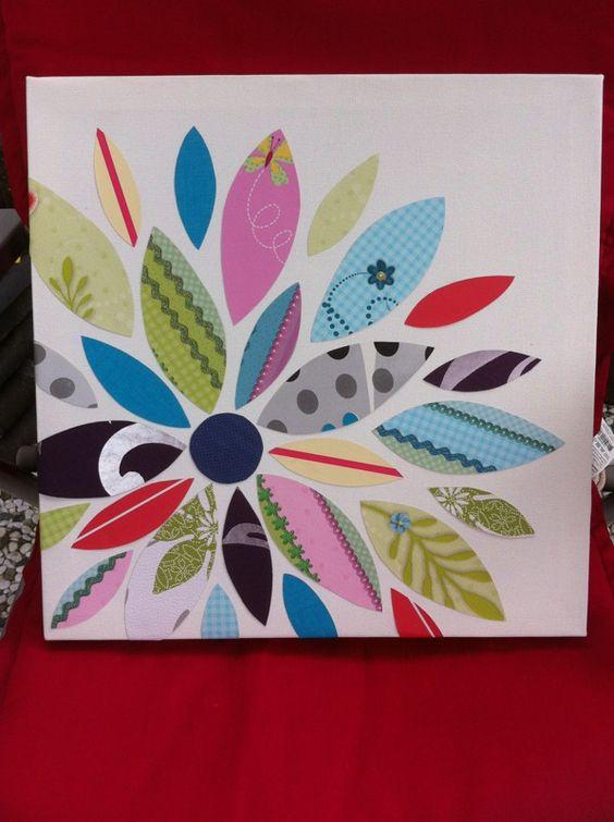Van stukjes behang een bloem maken creatief pinterest - Ideeen van binnenkomst ...