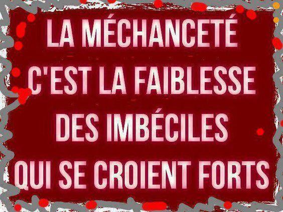 """#CITATION - """"La Méchanceté c'est la Faiblesse des Imbéciles qui se croient Forts"""""""