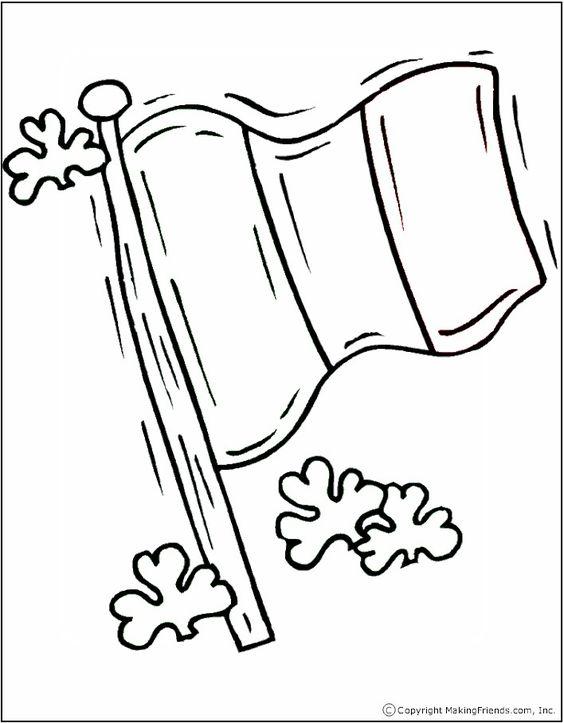 how to draw the irish flag