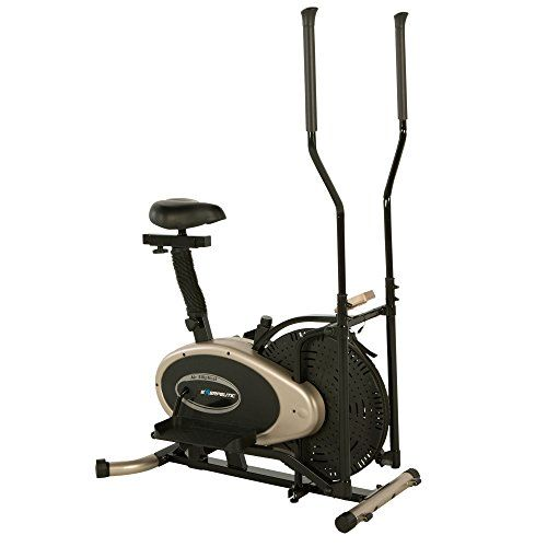 Exerpeutic Unisex Adult Gold Elliptical And Exercise Bike Dual
