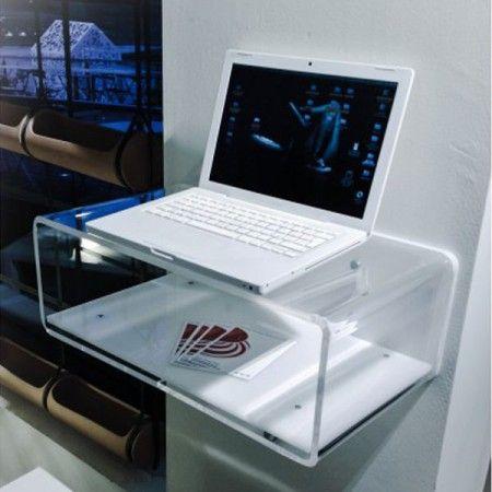 Plexiglass design consolle per imac in plexiglass da for Consolle plexiglass design