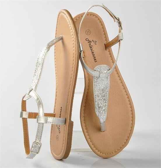 sandales argente, chaussure femme, femme - Chaussures Desmazieres