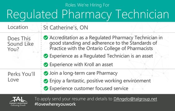 Hiring a Regulated Pharmacy Technician (full-time) in St - long term care pharmacist sample resume