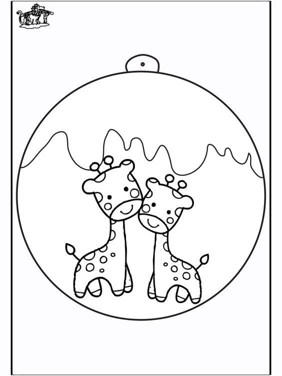 giraffe | Christbaumkugel mit Giraffe - Basteln Weihnachten