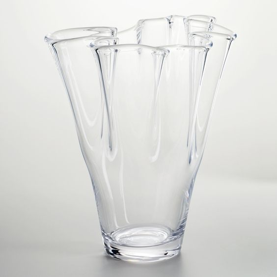Metal Virgil Accent Table   Glass vase, Vase and World Ruffled Handkerchief Glass Vases Bedford, A