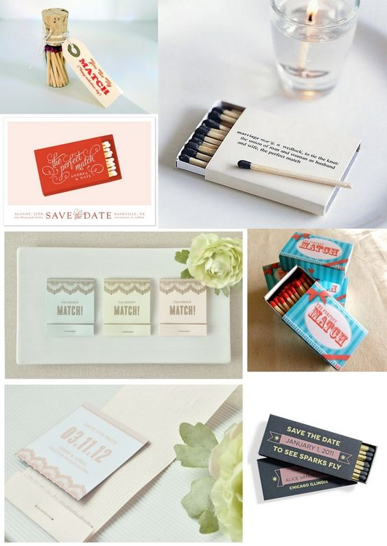 How to incorporate matches into your wedding ~ a perfect match!