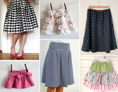 Various skirt tutorials- awesome.