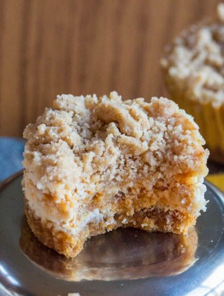 Streusel-Topped Pumpkin Cheesecake Cupcakes.