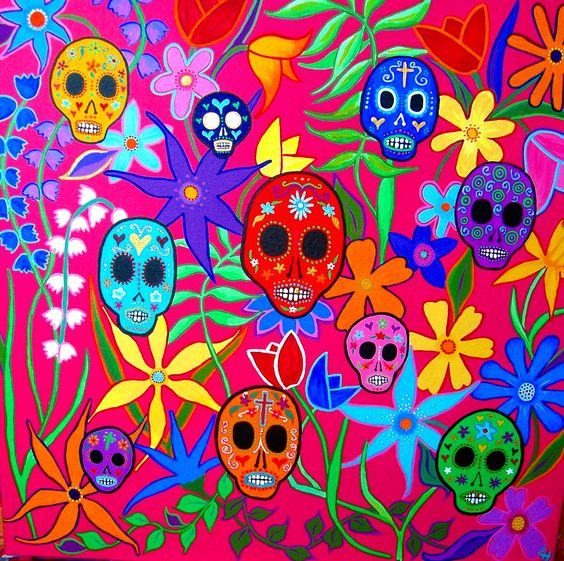 """Day of The Dead Sugar Skulls"" by Leandra Holder:"
