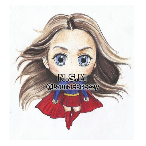Melissa Benoist Supergirl Drawings Chibi Cute Comics