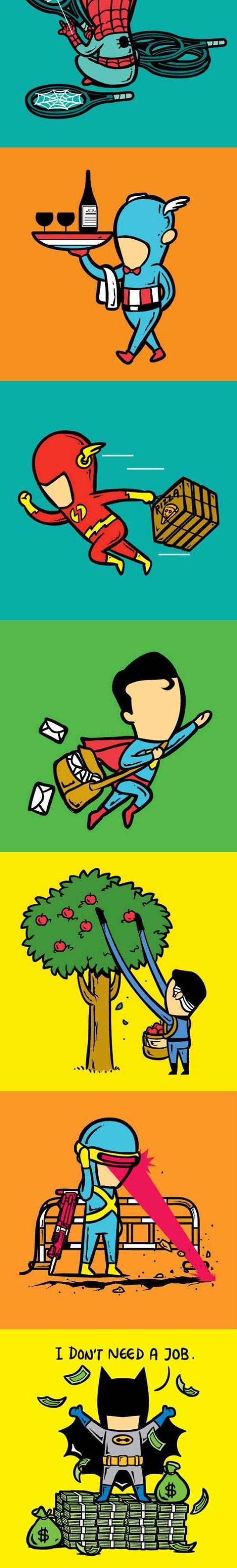 Funny Superhero Part Time Job