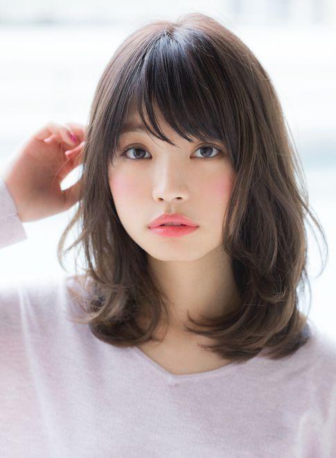 Image Result For Korean Shoulder Length Hairstyles Medium Asian