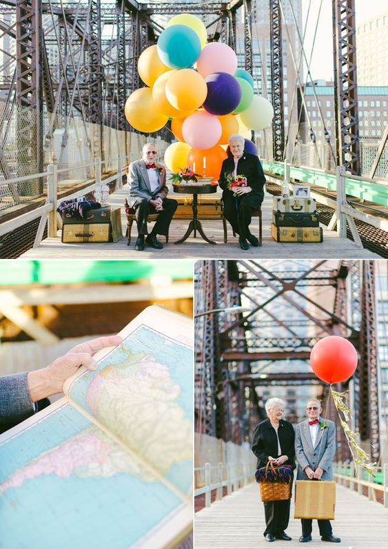 Pareja de ancianos realiza serie fotografica creativa para celebrar su aniversario de bodas | Juventud Fotográfica