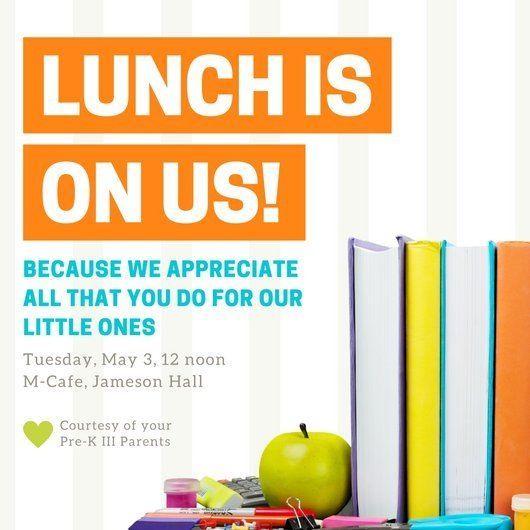 Luncheon Flyer Templates Teacher Appreciation Lunch Teacher