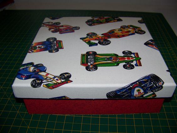 caixa em tecido da Fórmula 1