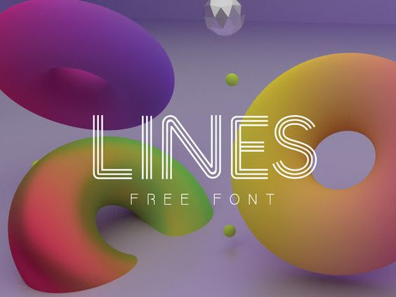 Free PSD Goodies and Mockups for Designers: LINES FREE FONT