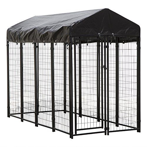 Houseables Dog Kennel Large Dog Crate 8 X 4 X 6 Ft Metal Welded Pet Cage Heavy Duty Playpen Outdoor Outside Dogs House Animal Runs Yard Wire Fence Cre Outside Dog Houses