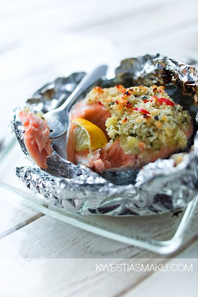 Salmon, Recipes for salmon and Salmon in foil on Pinterest
