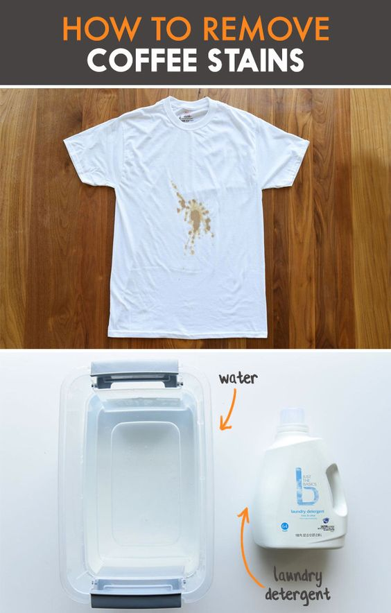 This chart will change your life if you 39 re a messy eater for Remove coffee stain from shirt