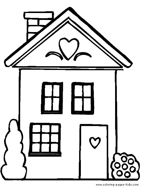 Houses Coloring Pages Funycoloring Color Print House Colouring Pages House Drawing For Kids Coloring Pages