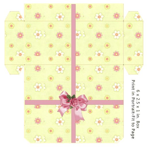 Gift Box - (There are tons of different templates on this site!)