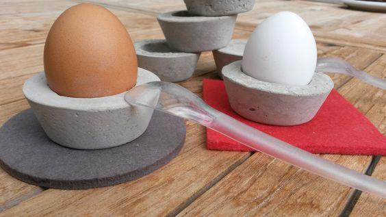 Beton Eierbecher ... Euer Frühstück wird zum Erlebnis Verkauf auf Anfrage