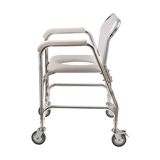 Amazon Com Duro Med Shower Chair With Wheels Commode Chair And