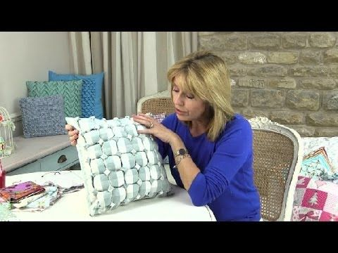 Canadian smocked box cushion by Debbie Shore -  the possibilities are endless