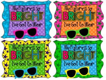 Attach these tags to a pair of sunglasses and you have the perfect beginning of the year gift for your students! Enjoy! :) ...