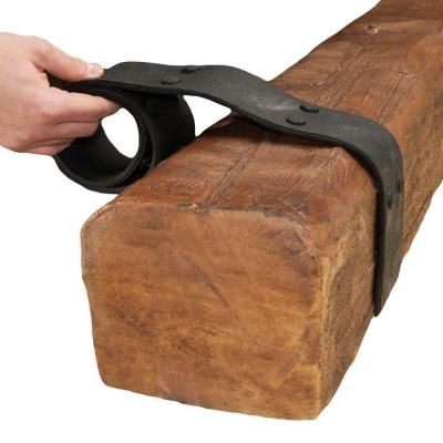 American Pro Decor 42 in. x 2-3/4 in. Double Rubber Strapping for Wood Faux Beam-5APD10015 at The Home Depot