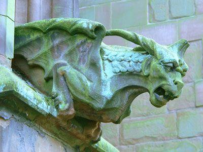 Gargoyle, Lichfield Cathedral, England