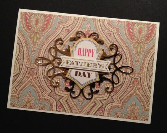 Elegant Father's Day Card with Gold Foil by PinkPetalPapercrafts, $6.50