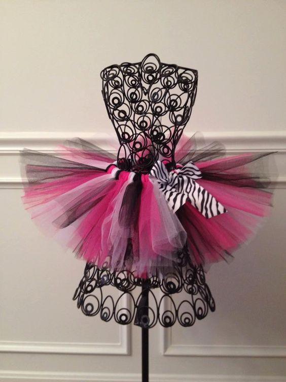 Pink+and+Black+Zebra+1st+Birthday+Tutu+/+by+GigglesandWiggles1,+$20.00