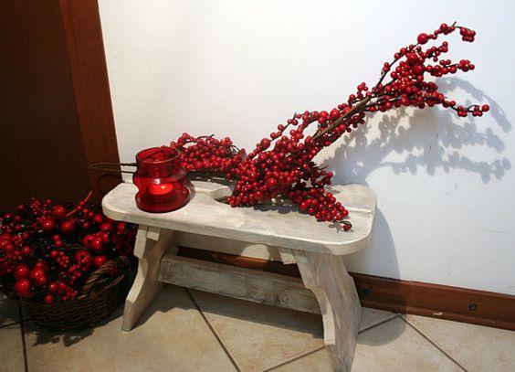Reclaimed wood stool handmade rustic wood by TheOrangeDandelion
