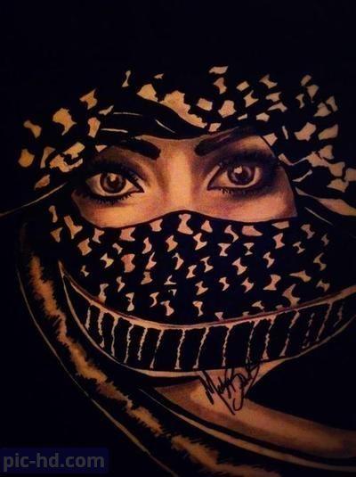 رمزيات بنات محجبات اجمل صور رمزيات بنات كيوت رمزيات كشخه للبنات Palestine Art Palestine Pretty Eyes