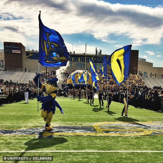 We love our Hens on game day! Here they are during Homecoming 2014 vs. Towson.
