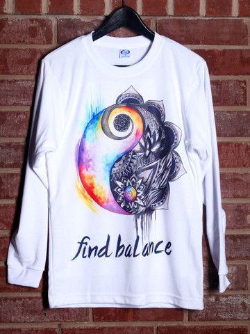 Find Balance Long Sleeve! #yinyang